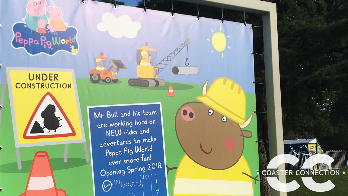 After discovering this billboard, we headed over to Peppa Pig World to  check out the progress of the construction site. The two new rides will be  located at ...
